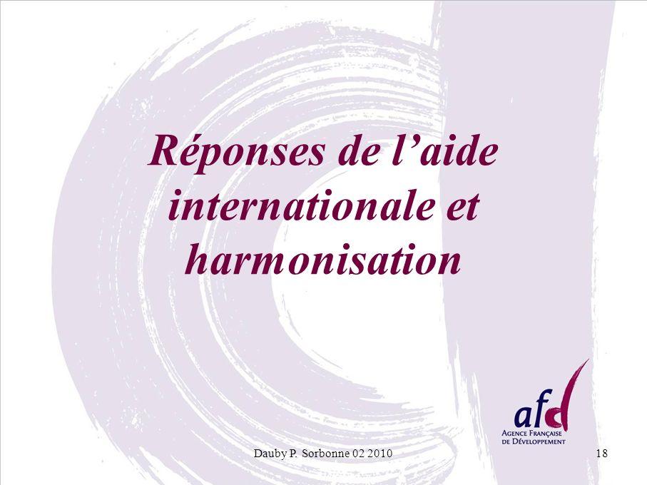 Dauby P. Sorbonne 02 201018 Réponses de laide internationale et harmonisation