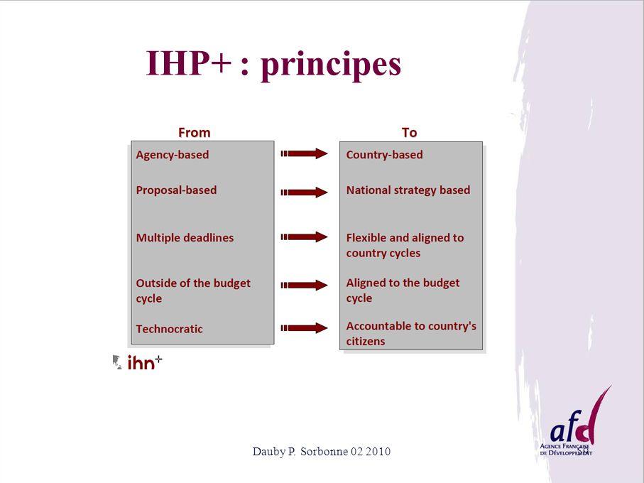 Dauby P. Sorbonne 02 201059 IHP+ : principes
