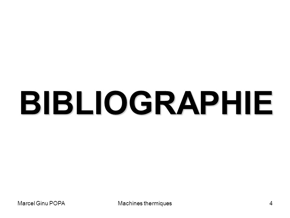 Marcel Ginu POPAMachines thermiques4 BIBLIOGRAPHIE