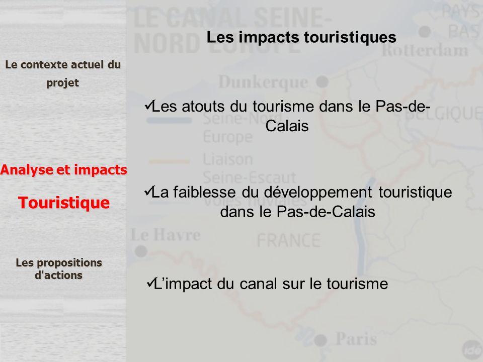 Le contexte actuel du projet Analyse et impacts Les propositions d'actions Touristique Les atouts du tourisme dans le Pas-de- Calais La faiblesse du d