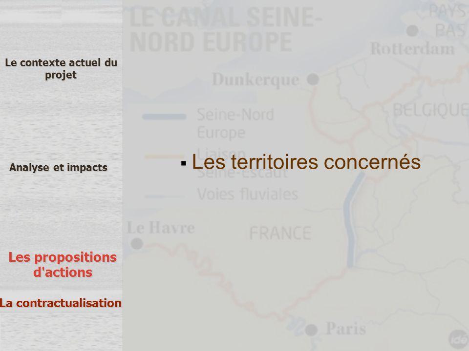 Les territoires concernés Le contexte actuel du projet Analyse et impacts Les propositions d'actions La contractualisation