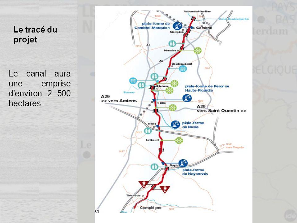 Le tracé du projet Le canal aura une emprise d'environ 2 500 hectares.