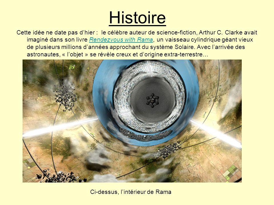 Histoire Cette idée ne date pas dhier : le célèbre auteur de science-fiction, Arthur C. Clarke avait imaginé dans son livre Rendezvous with Rama, un v