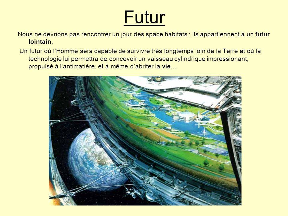 Futur Nous ne devrions pas rencontrer un jour des space habitats : ils appartiennent à un futur lointain. Un futur où lHomme sera capable de survivre