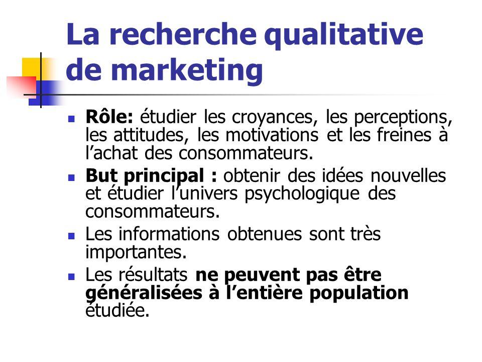 Les instruments principaux utilisés dans la recherche qualitative sont : a) le questionnaire de sélection et b) le guide dentretien