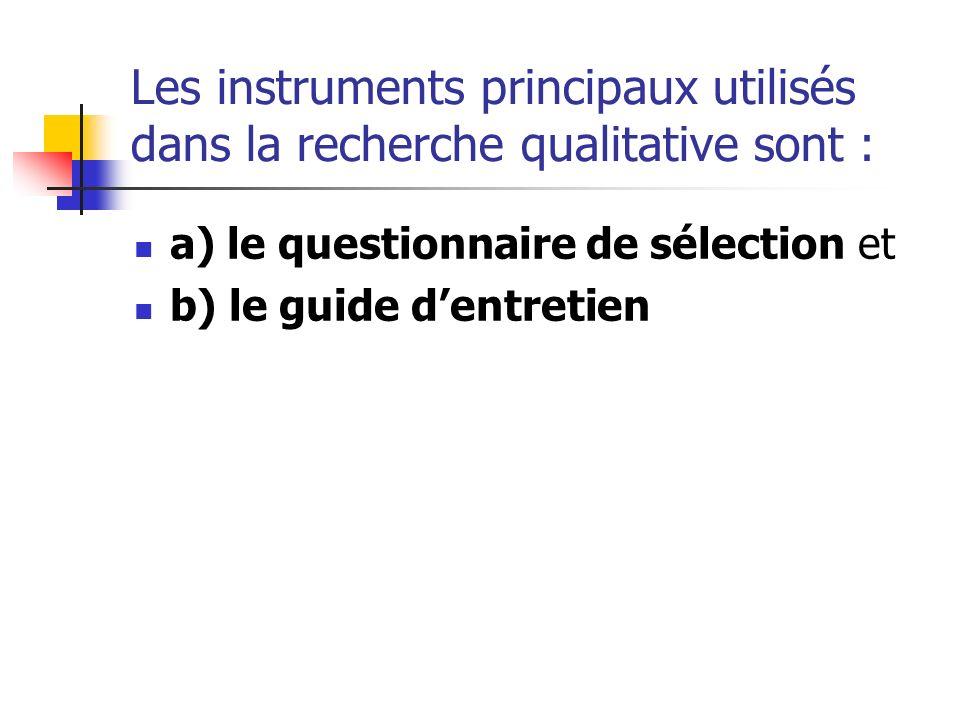 Questionnaire de sélection q) Le sexe de linterlocuteur : (entourez la lettre correspondante à linterviewé) a) Homme b) Femme q) Quelle est votre tranche dâge .
