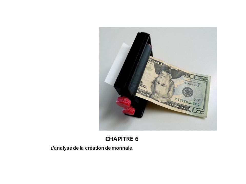 CHAPITRE 6 L analyse de la création de monnaie.