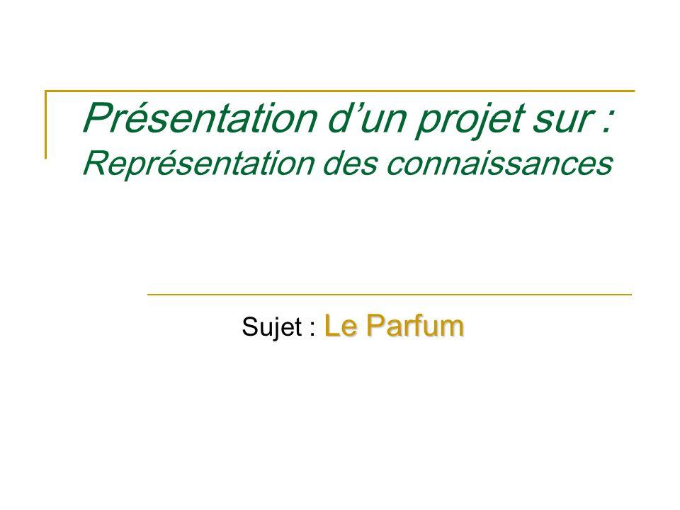 Présentation dun projet sur : Représentation des connaissances Le Parfum Sujet : Le Parfum