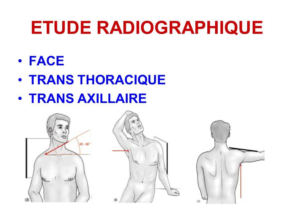 ETUDE RADIOGRAPHIQUE FACE TRANS THORACIQUE TRANS AXILLAIRE