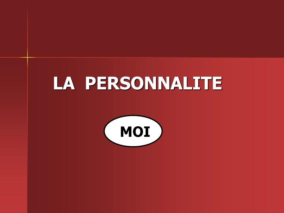 LA PERSONNALITE MOI
