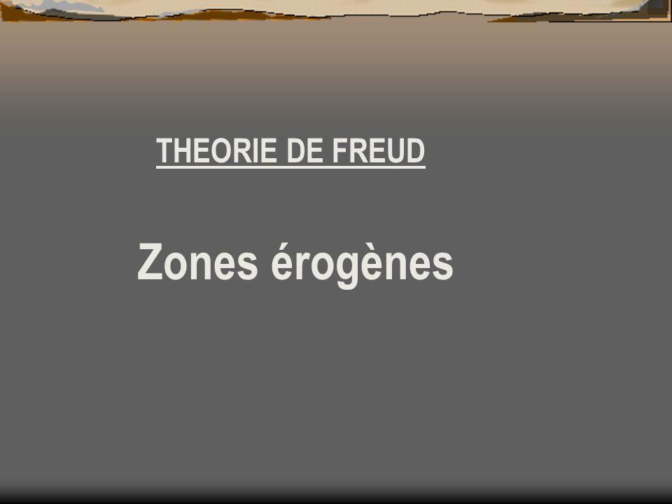THEORIE DE FREUD Zones érogènes