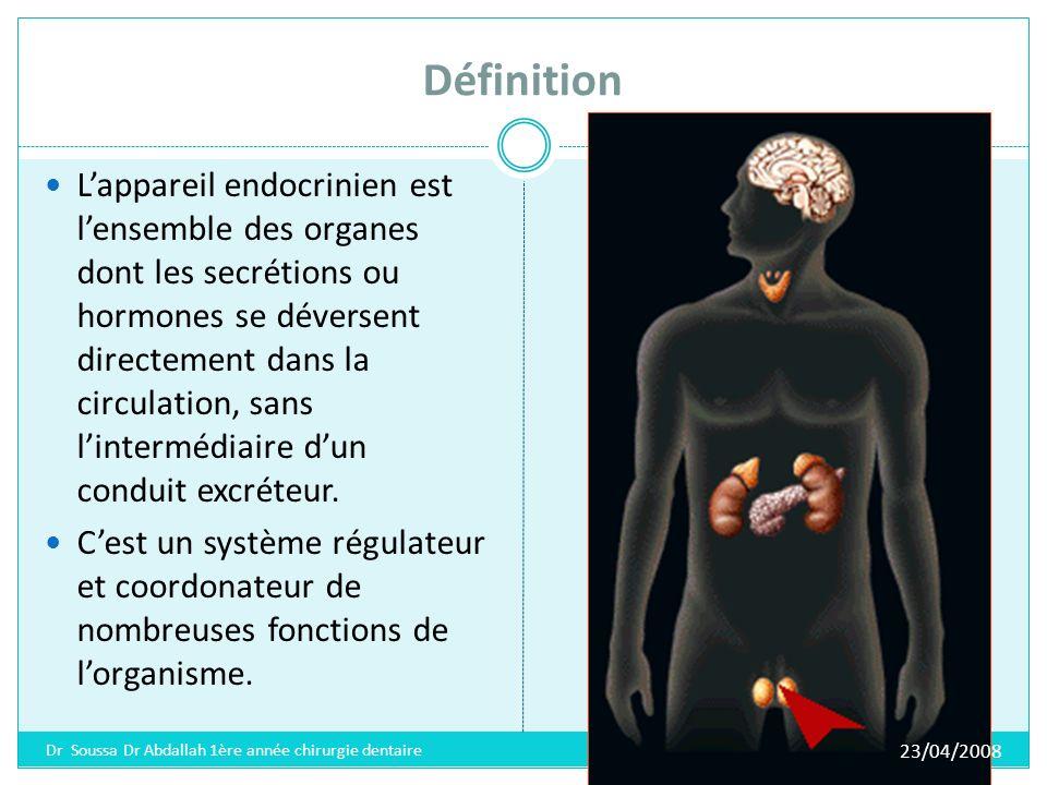 Définition Cet appareil semblable au système nerveux par son rôle, est étroitement lié à ce dernier.