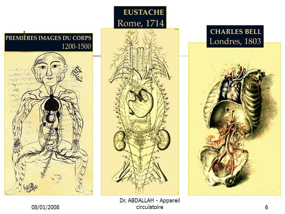 08/01/2008 Dr. ABDALLAH - Appareil circulatoire6