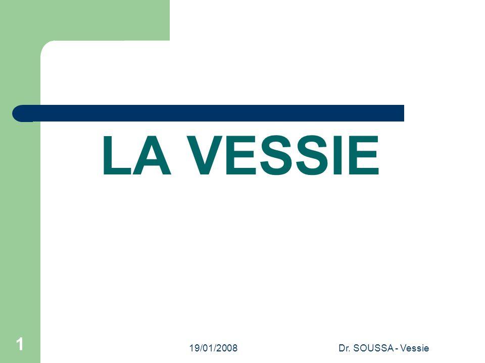 19/01/2008Dr. SOUSSA - Vessie 1 LA VESSIE