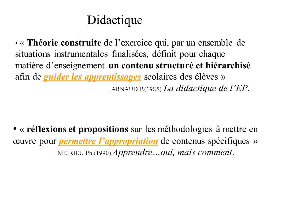 « Didactique et pédagogie s appliquent toutes deux aux processus d acquisition et de transmission des connaissances.