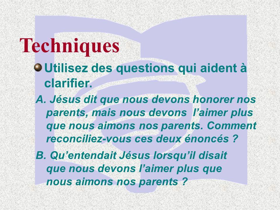 Techniques Demandez aux élèves didentifier des schémas ou des listes de choses dans un passage A.