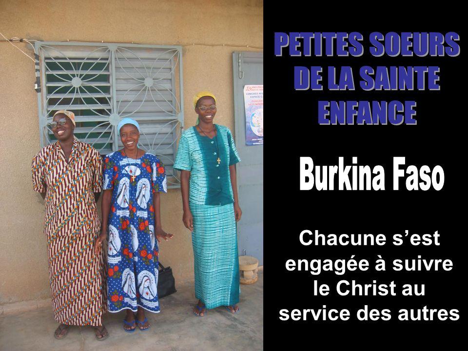 Chacune sest engagée à suivre le Christ au service des autres