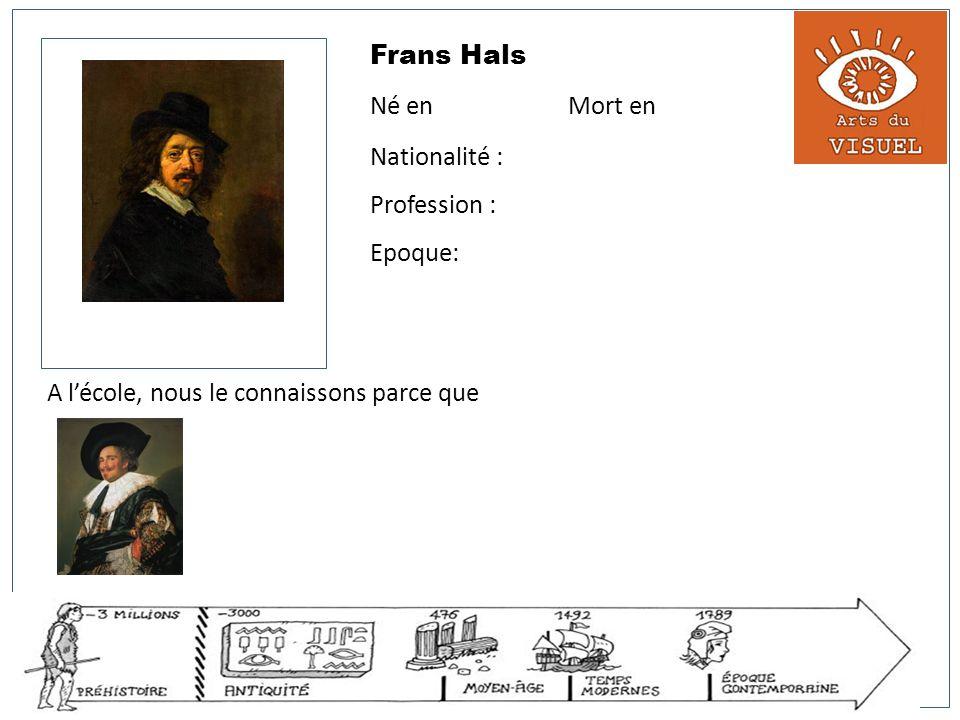 Frans Hals Né en Mort en Nationalité : Profession : Epoque: A lécole, nous le connaissons parce que Le cavalier riant