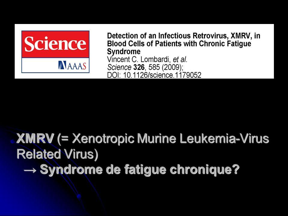 XMRV (= Xenotropic Murine Leukemia-Virus Related Virus) Syndrome de fatigue chronique