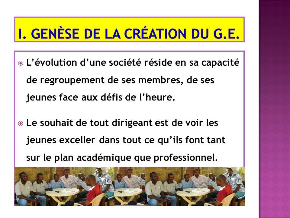 Lévolution dune société réside en sa capacité de regroupement de ses membres, de ses jeunes face aux défis de lheure.