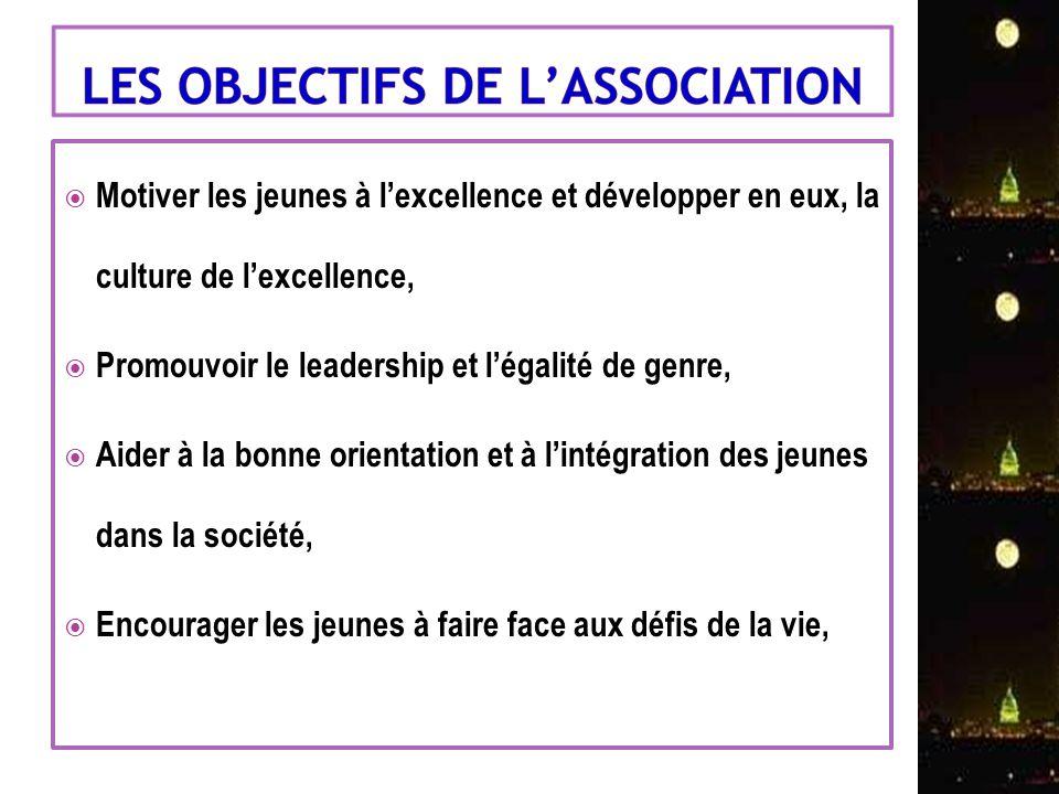 Motiver les jeunes à lexcellence et développer en eux, la culture de lexcellence, Promouvoir le leadership et légalité de genre, Aider à la bonne orie