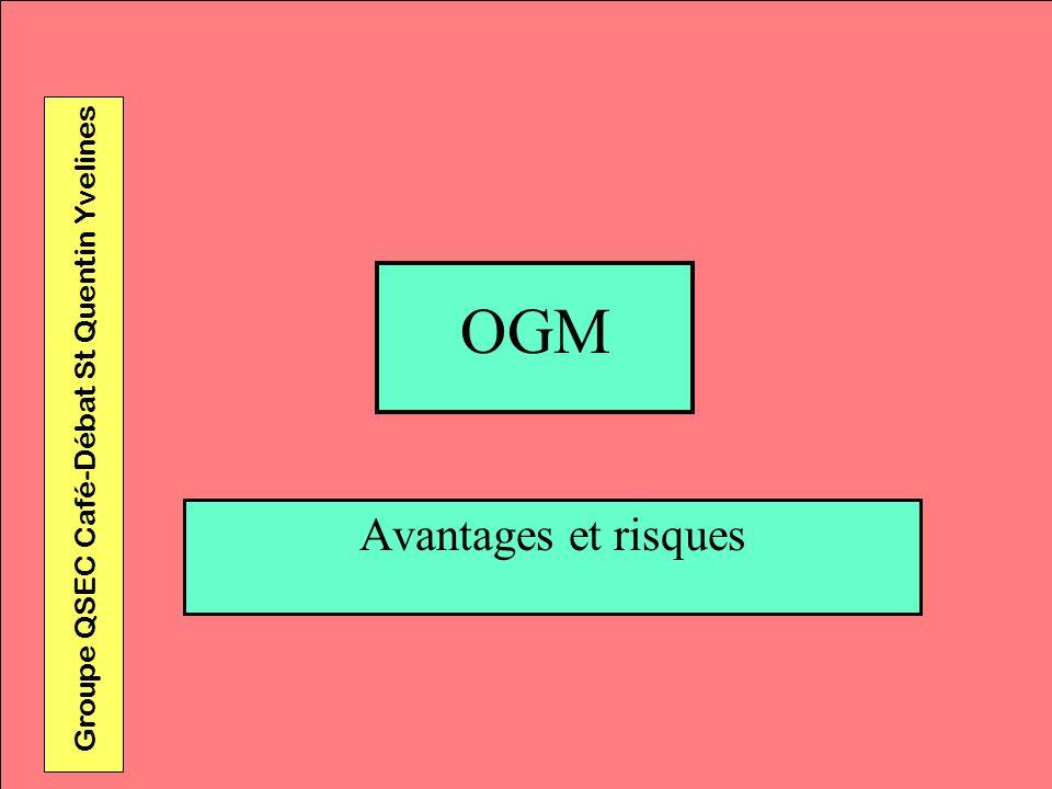 OGM Avantages et risques Groupe QSEC Café-Débat St Quentin Yvelines
