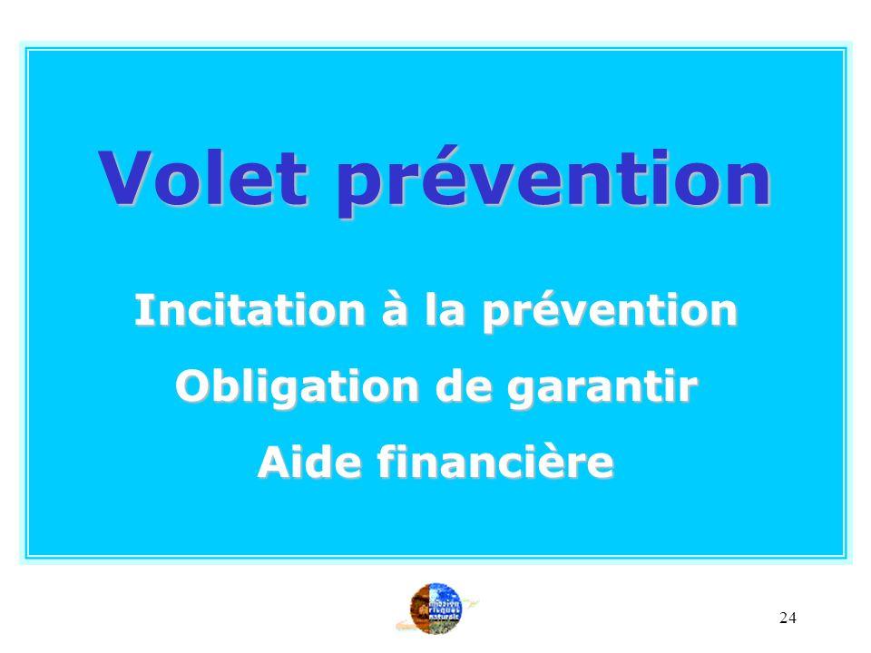 23 Mesures préventives Lien direct Les mesures préventives doivent avoir été prises Lintensité anormale de lévénement doit être la cause déterminante