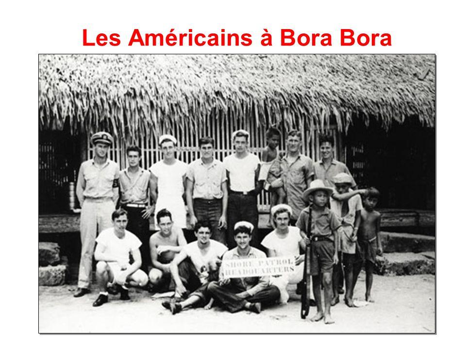 Les Américains à Bora Bora