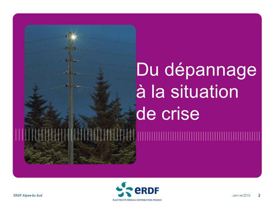 Janvier 2010ERDF Alpes du Sud 2 Du dépannage à la situation de crise