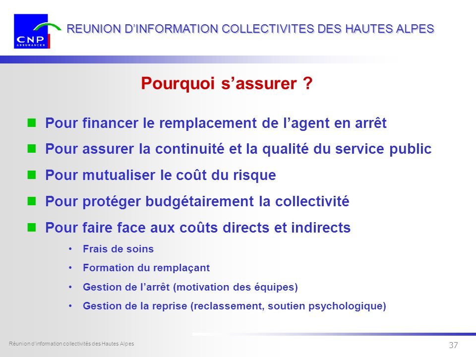 36 Dexia Sofcap - tous droits réservés Réunion dinformation collectivités des Hautes Alpes 36 REUNION DINFORMATION COLLECTIVITES DES HAUTES ALPES Les