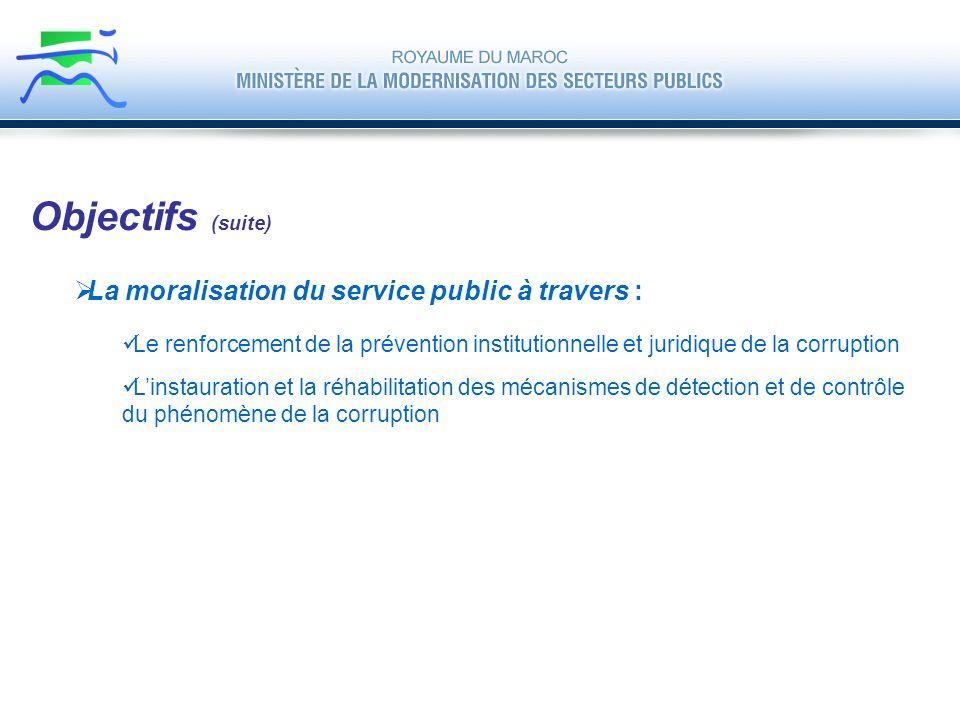 La moralisation du service public à travers : Le renforcement de la prévention institutionnelle et juridique de la corruption Linstauration et la réha