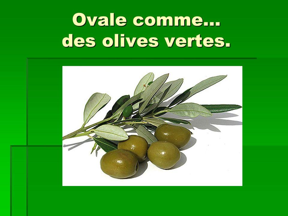 Ovale comme… des olives vertes.