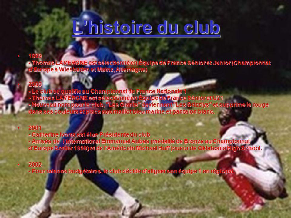 Lhistoire du club 1999 - Thomas LAVERGNE est sélectionné en Équipe de France Sénior et Junior (Championnat d'Europe à Wiesbaden et Mainz, Allemagne)19