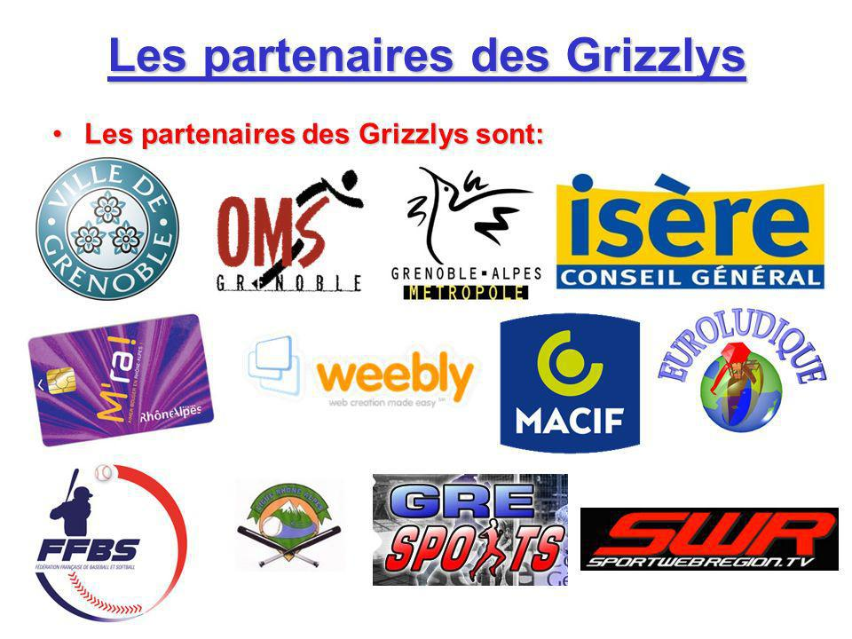 Les partenaires des Grizzlys Les partenaires des Grizzlys sont:Les partenaires des Grizzlys sont: