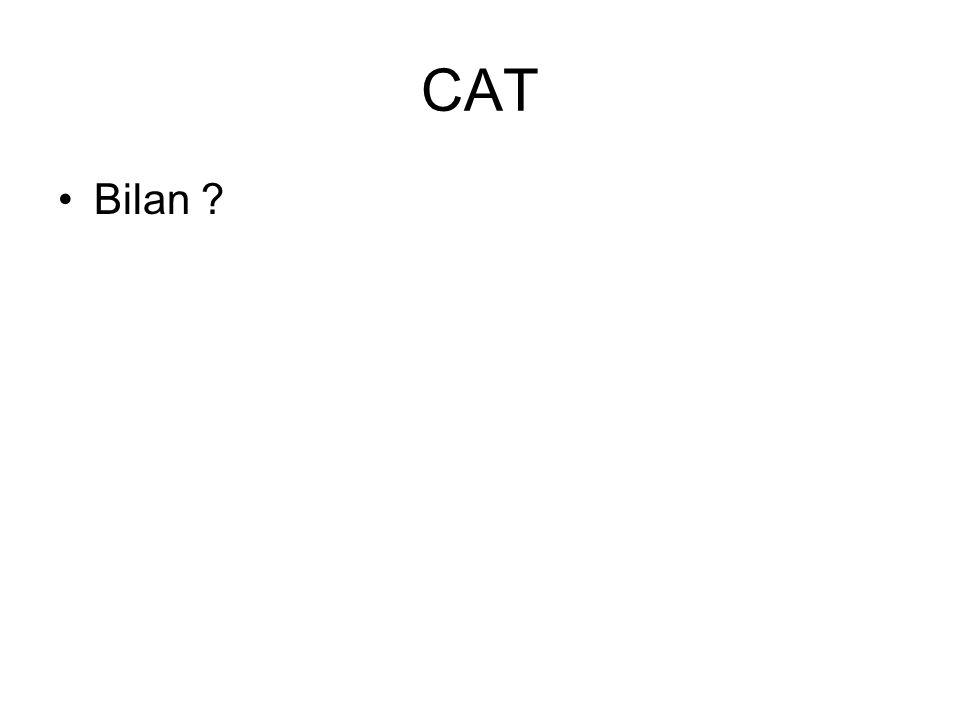 CAT Bilan ?