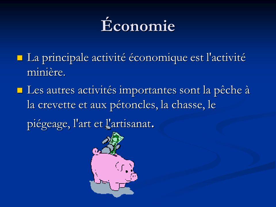 Économie La principale activité économique est l'activité minière. La principale activité économique est l'activité minière. Les autres activités impo