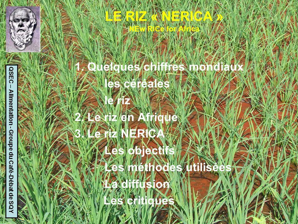 LE MANIOC QSEC – Alimentation - Groupe du Café-Débat de SQY Méthode : La même que pour le riz NERICA : -Hybridation entre manioc et 35 espèces sauvages apparentées -Croisements et rétrocroisements -Sélection assistée par marqueurs Résultats : Très bons pour le rendement et la valeur nutritive.