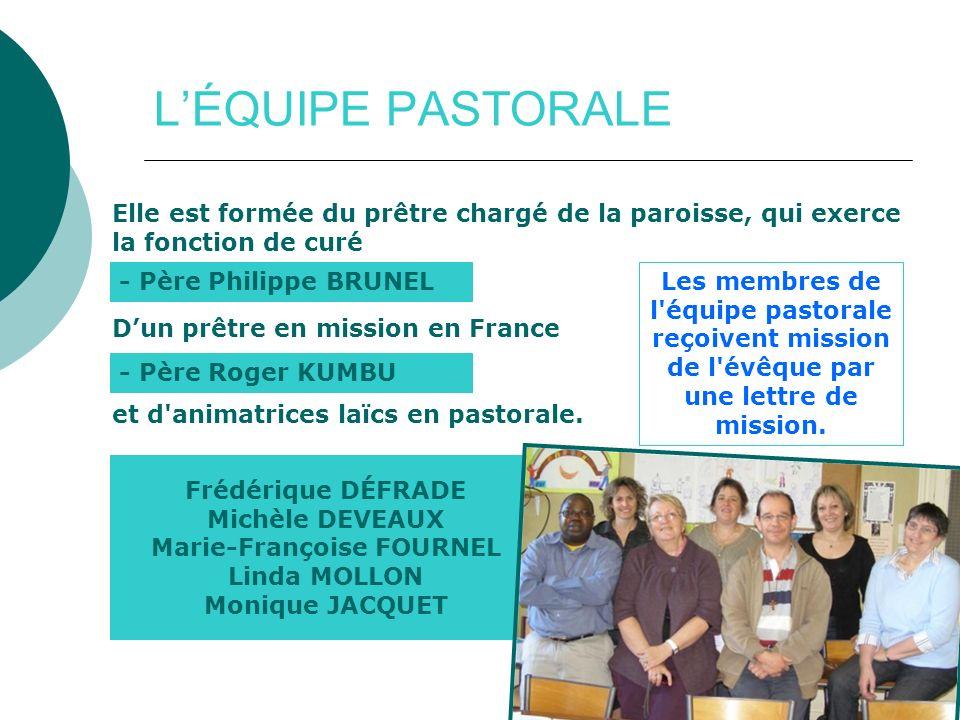 http://saintvincentenlignon42.cef.fr / LÉQUIPE PASTORALE Elle est formée du prêtre chargé de la paroisse, qui exerce la fonction de curé Dun prêtre en