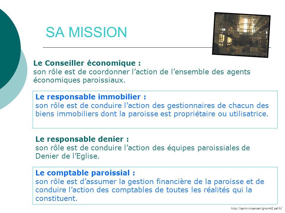 http://saintvincentenlignon42.cef.fr / SA MISSION Le Conseiller économique : son rôle est de coordonner laction de lensemble des agents économiques pa