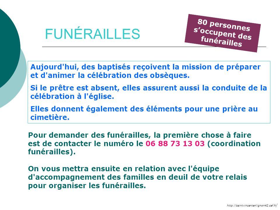 http://saintvincentenlignon42.cef.fr / FUNÉRAILLES Pour demander des funérailles, la première chose à faire est de contacter le numéro le 06 88 73 13