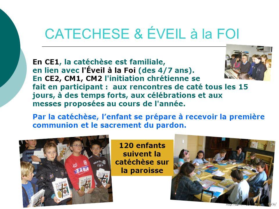 http://saintvincentenlignon42.cef.fr / CATECHESE & ÉVEIL à la FOI En CE1, la catéchèse est familiale, en lien avec l'Éveil à la Foi (des 4/7 ans). En