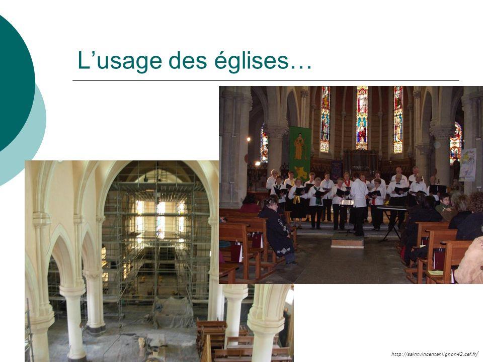 http://saintvincentenlignon42.cef.fr / Lusage des églises…