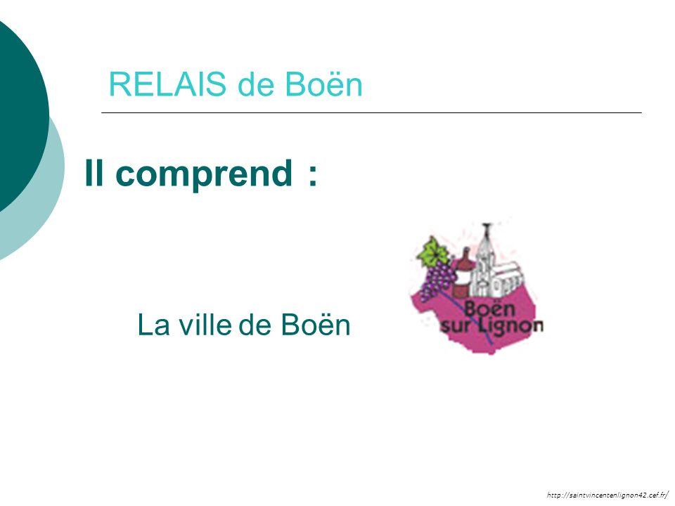 http://saintvincentenlignon42.cef.fr / RELAIS de Boën Il comprend : La ville de Boën