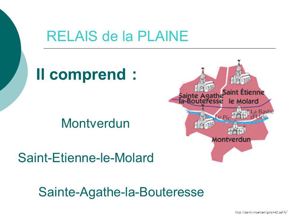 http://saintvincentenlignon42.cef.fr / RELAIS de la PLAINE Il comprend : Montverdun Saint-Etienne-le-Molard Sainte-Agathe-la-Bouteresse