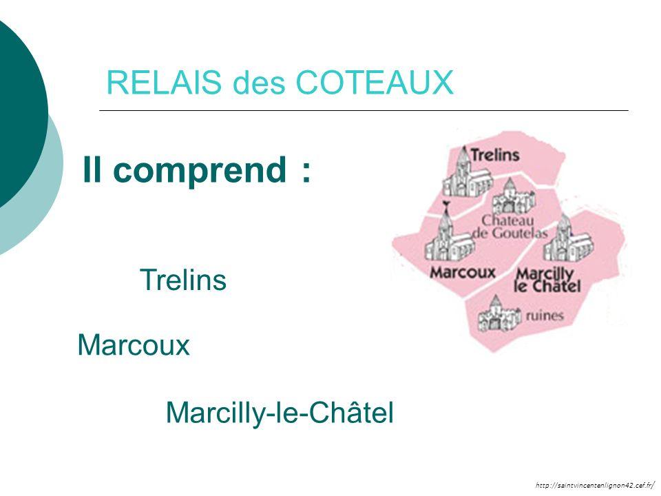 http://saintvincentenlignon42.cef.fr / RELAIS des COTEAUX Il comprend : Trelins Marcilly-le-Châtel Marcoux