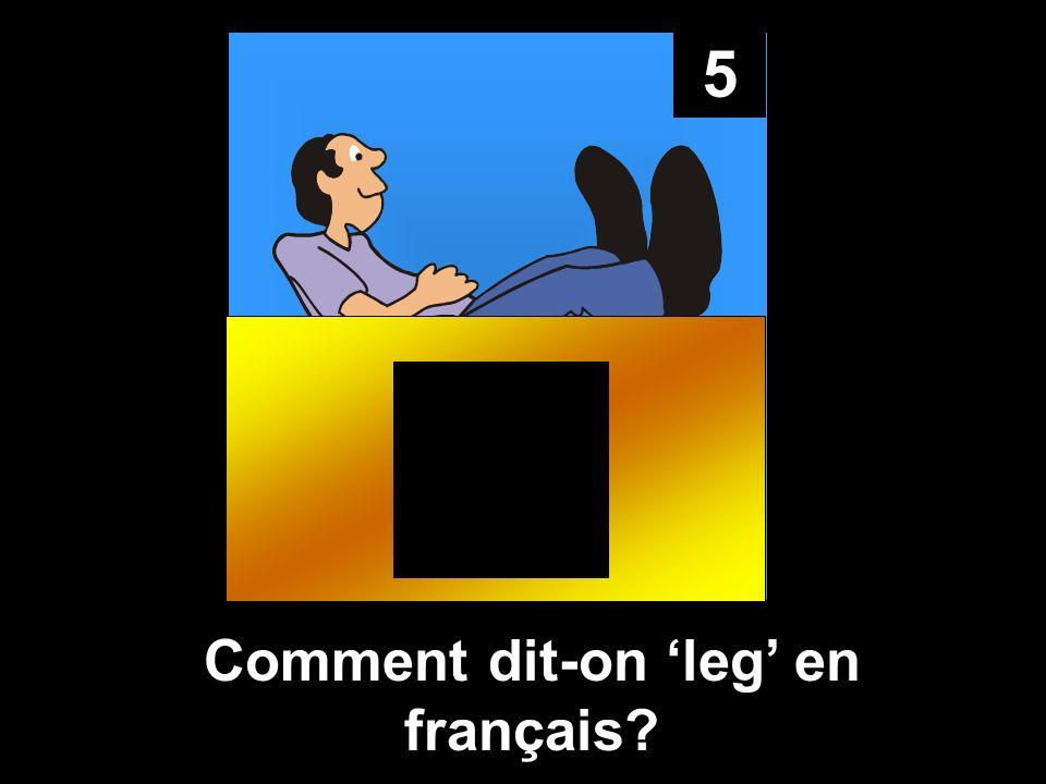 5 Comment dit-on leg en français?
