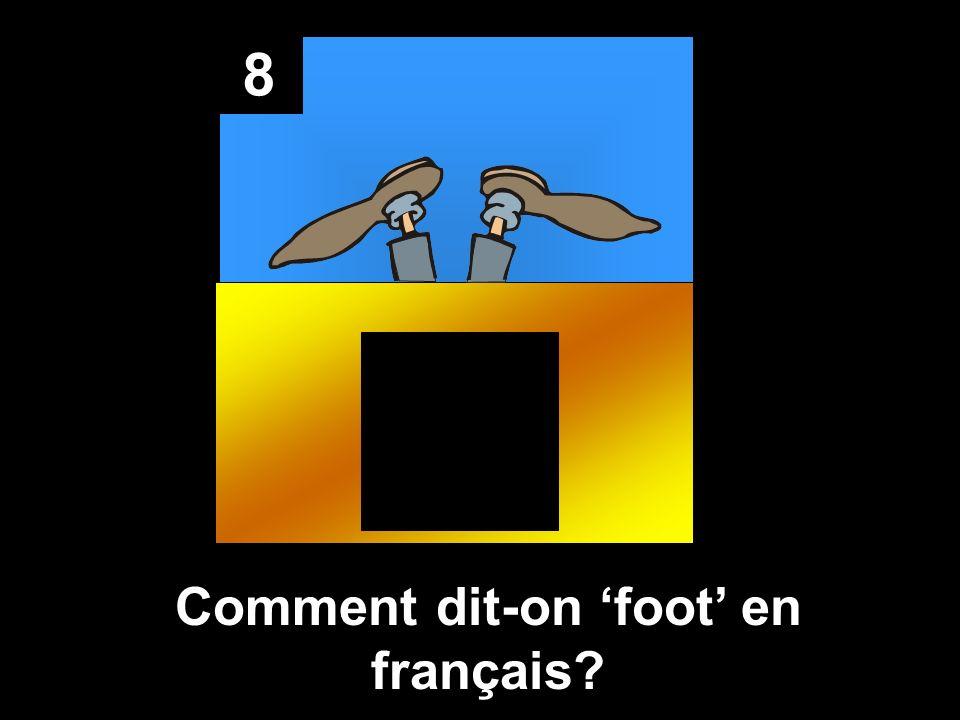 8 Comment dit-on foot en français?