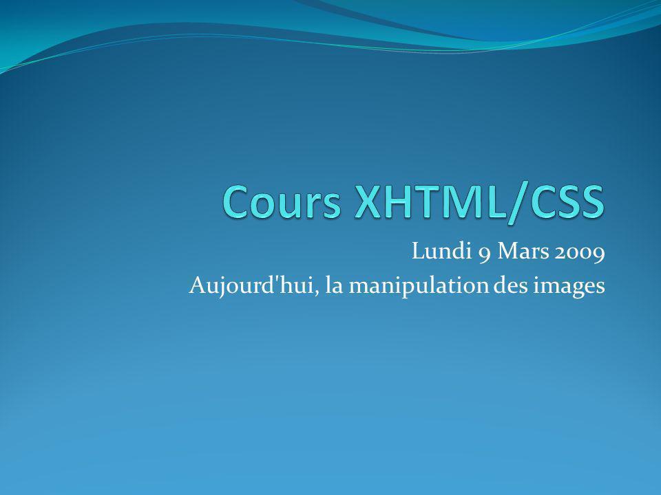 Lundi 9 Mars 2009 Aujourd'hui, la manipulation des images