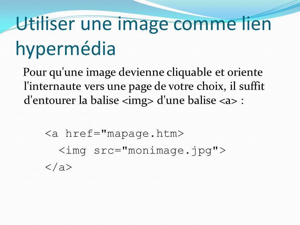 Exercice Définissez une image cliquable qui pointe vers le site Google.fr