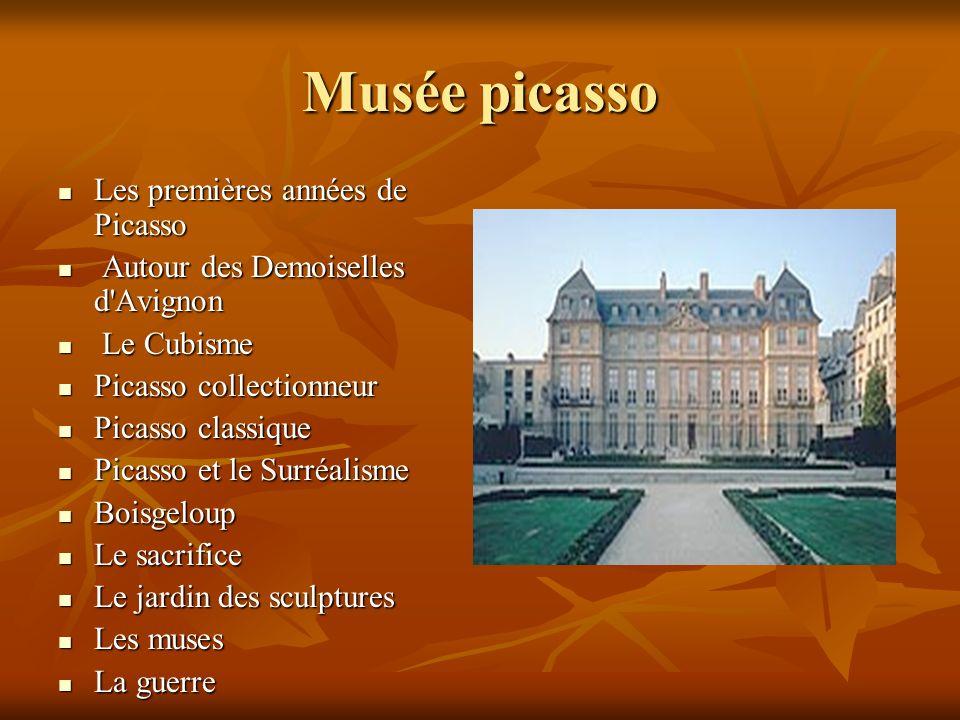 Musée picasso Les premières années de Picasso Les premières années de Picasso Autour des Demoiselles d'Avignon Autour des Demoiselles d'Avignon Le Cub